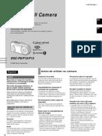 Sony Dsc-p10 Manual de Instrucciones