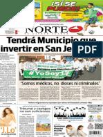 Periódico Norte edición del día lunes 23 de junio