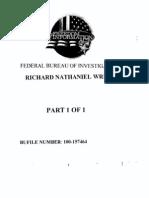 Richard Wrights' FBI file - part 1
