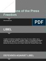 Limitations of the Press Freedom