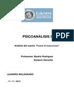 Trabajo Psicoanálisis I (Funes el memorioso) - Leandro Maldonado