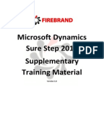 Microsoft Dynamics Sure Step Training
