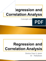 Regression and Correlation Analysis