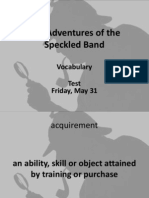 the adventures of the speckled band  vocabulary