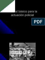 Manual basico de actuación policial rec por Segio autor libro el 16-12-08