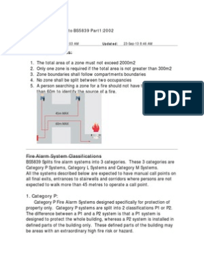 Fire Alarm Notes BS5839 | Smoke | Sensor