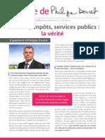 La lettre de Philippe Doucet - été 2014 - Finances, impôts, services publics