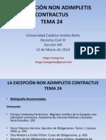 Tema 24 - La Excepción Non Adimpletis Contractus