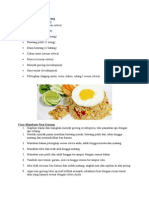 Resep Nasi Goreng Telur Special