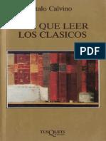 Calvino, Italo - Por Qué Leer a Los Clásicos