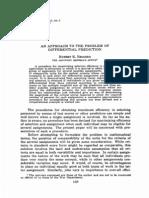 Brogden (1946) - Differential Prediction