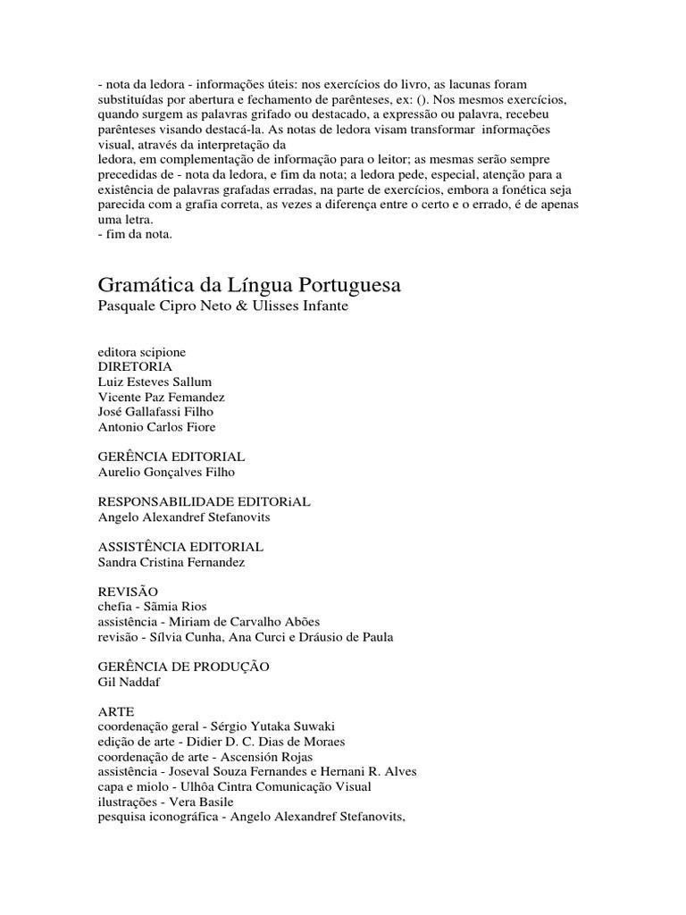 LIVRO Gramática Da Língua Portuguesa e86b54ada67f6