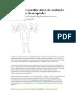 Modelos de Questionários de Avaliação e Análise de Desempenho