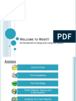 Welcome to Webi Presentation v112