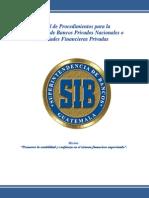 Constitución de Bancos Privados Nacionales o Sociedades Financieras Privadas