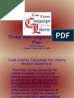 Cook County C4LThree Year Organizational Plan - 11-22-09
