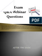 PMP Exam Q and a Webinar Questions