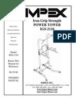 Iron Grip Strength Power Tower Manual