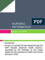 Nursing Informatics History