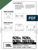 N26II Speaker Manual