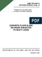 US Army/Airforce Slab on Grade Design Manual