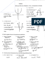 Parabola Review Worksheet Answers