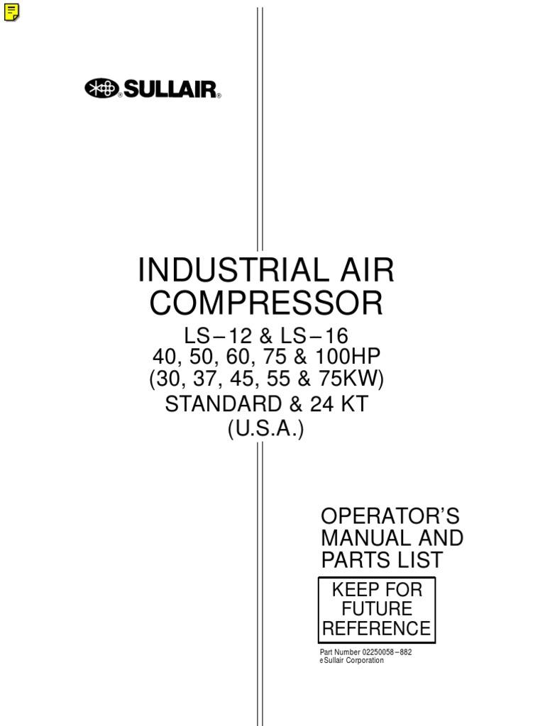 ls 16 sullair manual gas compressor valve. Black Bedroom Furniture Sets. Home Design Ideas