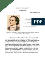 """""""Eminescu si strainii"""" de Acad.Ioan-Aurel Pop"""