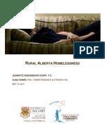 Alberta Rural Homelessness Report