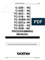 Brother - TC-S2D - Programming Manual