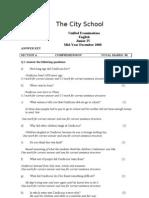 Jr. IV English Paper NAK