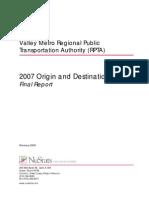 2007 Origins and Destinations Study Final Report