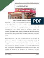 Consumer perception with regards to McDonald's