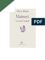 Eliade, Mircea - Maitreyi. La Noche Bengalí [PDF]