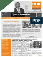 Spring/summer 2014 parliamentary bulletin - English version - Tyrone Benskin