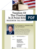 Taxation of the Clawback in a Ponzi Scheme