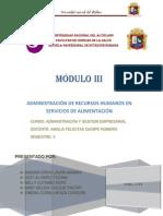 Administracion de Recursos Humanos en Servicios de Alimentacion(Corregido)