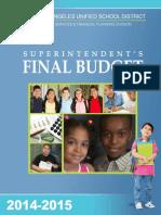 06-24-14 LAUSD Superintendent's FINAL BUDGET