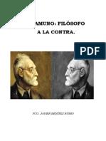 Benítez Rubio, Fco. Javier - Unamuno, Filósofo a La Contra