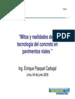 2) Mitos y Realidades de La Tecnología Del Concreto en Pavim