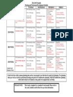 monthly meeting schedule 2014-2015