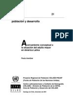 CEPAL. Acercamiento Conceptual a La Situacion Del Adulto Mayor en America Latina