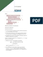 15 Multiplicadores de Lagrange Apunte