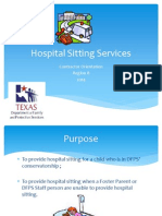 hospital sitting services contractor orientation
