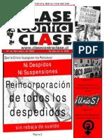 Periodico Clase contra Clase 130 (07 de Noviembre de 2009)