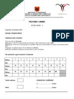 Testi i Matematikes Pl 2012