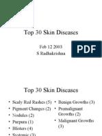 Top 30 Skin Diseases