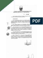 Resolución de aprobación del reglamento de inscripciones