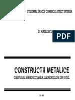 Constructii Metalice - Notiuni elementare