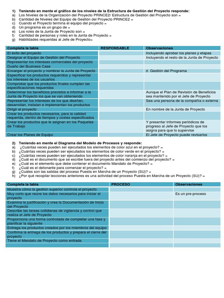 Famoso Plantilla De Plan De Proyecto Prince2 Imágenes - Ejemplo De ...